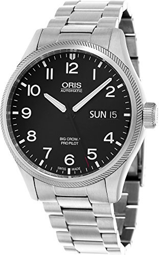 Oris Big Crown Propilot día fecha Hombres de acero inoxidable automático suizo reloj 0175276984164-0782219por Oris