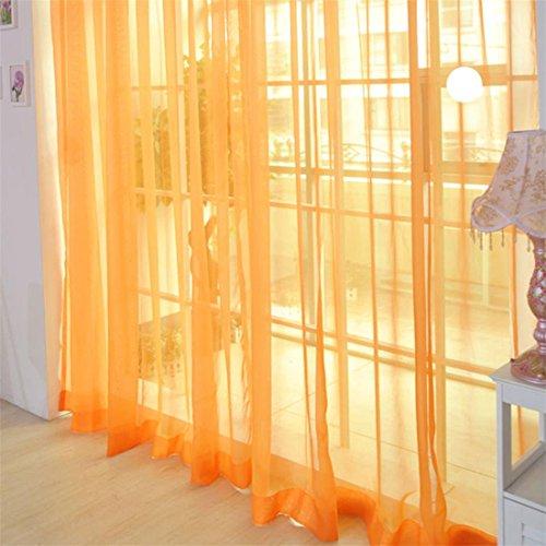 Afut, tenda in voile, colorata, per soggiorno e ufficio, 100cm x 200cm orange