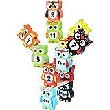 CraftDev Colorful Digital Building Blocks Educational Training Brain Intellect Kids Games Balance Beam Toys ( OWL Design )