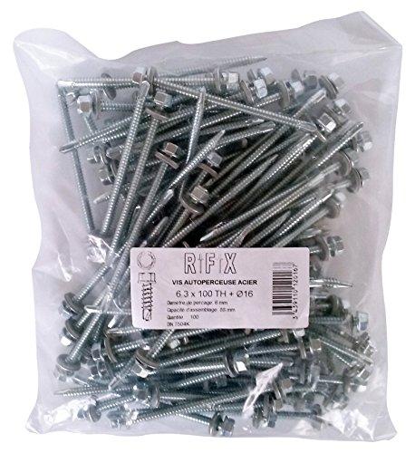 rifix-th63100r16-confezione-di-100-viti-a-testa-esagonale-per-rivestimento-esterno-63-x-100-mm-con-r