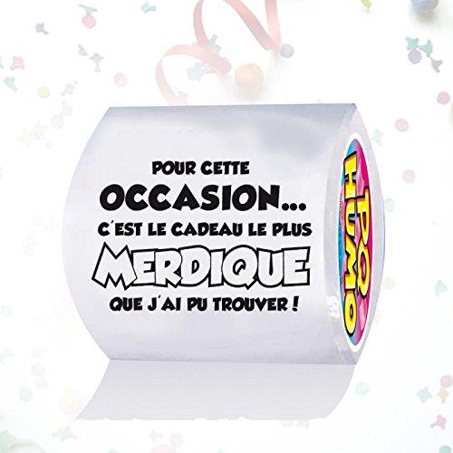 Papier toilette humoristique CADEAU MERDIQUE