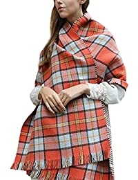 Landove Echarpe a Carreaux Femme Chale Tartan Laine Mode Etole Grande Plaid  Foulard Oversize Pashminas Shawl Cardigan Cachemire… d2f61fcee53
