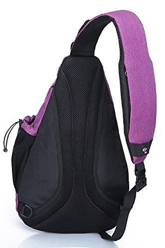 FREEMASTER Sling Bag Rucksack Schultertasche Crossbody Sling Umhängetasche Daypack Für Wandern, Radfahren, Bergsteigen, Reisen,Schule Blaurot
