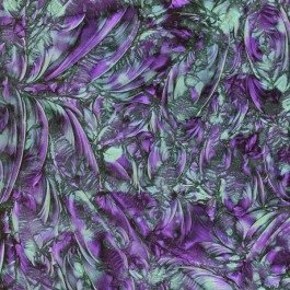 Mosaic Craft – 5 x 10 cm plate – Van Gogh en verre – Violet Bleu-vert