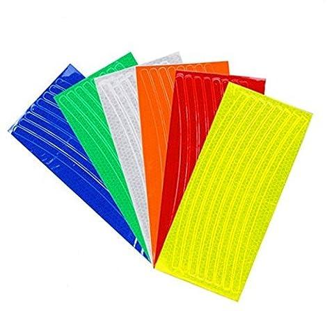 Canamite® Autocollants Réfléchissants pour le Bord des Jantes Jante - Visibilité Fiable (Multicolore)