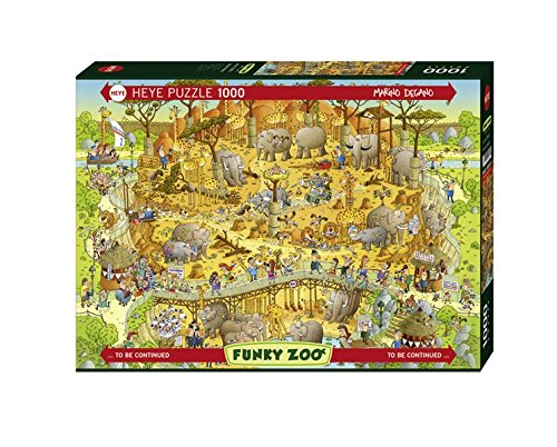 Preisvergleich Produktbild Heye 29639 - Marino Degano, Funky Zoo African Habitat, 1000 Teile Standardpuzzle