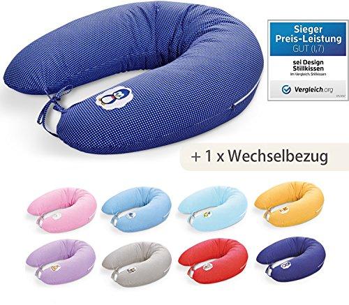 Sei Design Coussin d'allaitement 170 + 1 housse de coussin d'allaitement supplémentaire