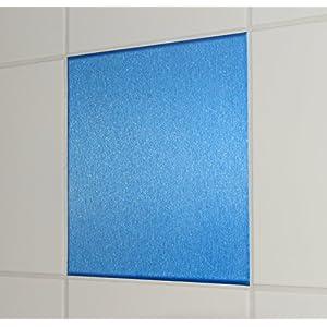 10 Stück Alu gebürstet Look blau Fliesenaufkleber 20x25cm