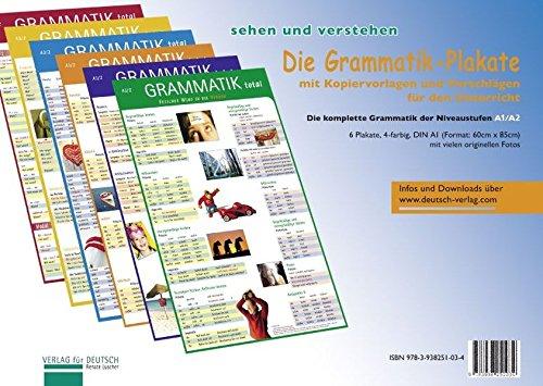 (Die Grammatik-Plakate: Die komplette Grammatik der Niveaustufen A1/A2. Übungsheft und 6 Plakate)
