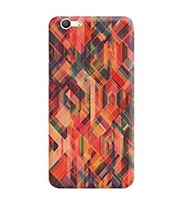 Vivo Y66 Back Cover designer 3D Hard Mobile Case printed Cover for vivo y66 by Gismo - Abstract Pattern Pink Orange Girl Girly