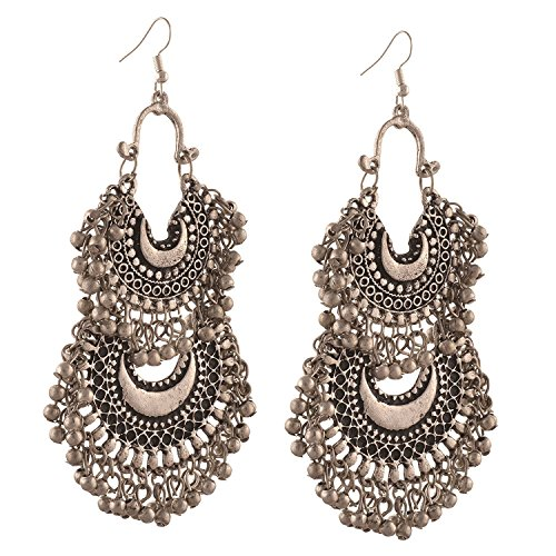 Tiaraz Fashion Stylish Oxidised Afghani Tribal Fancy Party Wear Earrings for Girls...