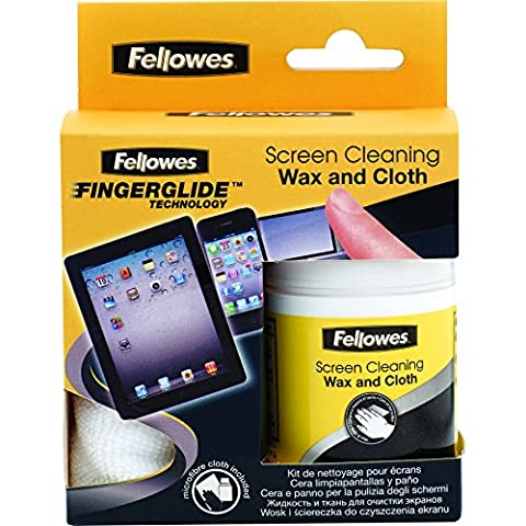Fellowes Screen Cleaning Wax and Cloth
