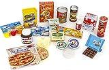 Polly Kaufladen Zubehör Set Pizza, Dosen, Fruchtzwerge ,Kakao,Miniaturen | Kinder Spielzeug für den Kaufmannsladen | Kinderkaufladen
