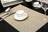 Tischset Platzset Clest F&H 5-5 khaki Platzmatte gewebt aus Kunststoff 45x30 cm(2er Set)