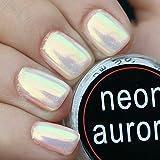 Ushion Sirena Effetto Pigmento Nails Art in Polvere Iridescente Trend Glitter Specchio Polvere