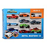 #3: Amitasha Metal Die Cast Racing Cars for Kids (Racing Master Set of 10)
