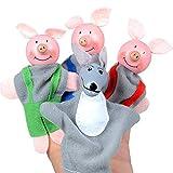 Finger Puppe, 4 teile/satz Märchen Handpuppen Spielzeug, Plüsch Schwein Geformt Puzzle Frühkindliche Bildung Kinder Spielzeug