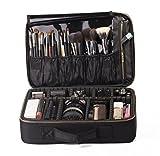 ROWNYEON Bolso de Cosméticos Portable Organizador de Maquillaje EVA / Maletín para Maquillaje (Negro Largo)