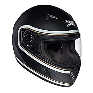 Royal Enfield Black Full Face Helmet Size (XL)62 CM  (RRGHEH000111)