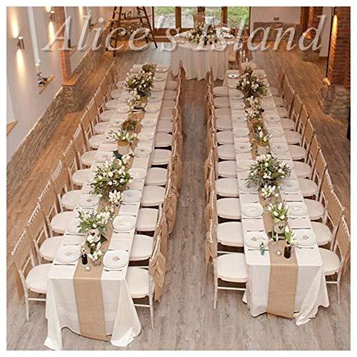 300x30 cm Natürliche Sackleinen Jute Tischläufer für Rustikale Klassische Weinberg Hochzeit tisch dekoration tisch stuhl dekoration