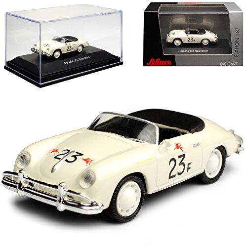 alles-meine.de GmbH Porsche 356 A Speedster Cabrio Weiss James Dean Nr 23 F 1955-1959 H0 1/87 Schuco Modell Auto (James-dean-auto)