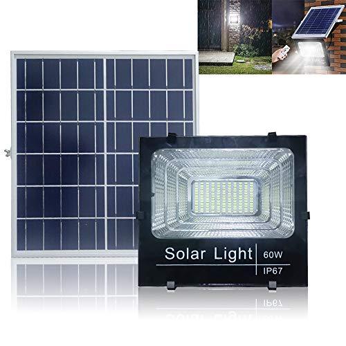 UISEBRT 60W LED Solarleuchte mit Fernbedienung Wasserdicht - 40 LEDs Solar-Flutlicht Sicherheitsleuchte Solarlampe Außenbeleuchtung für Hof, Garten, Terrasse -