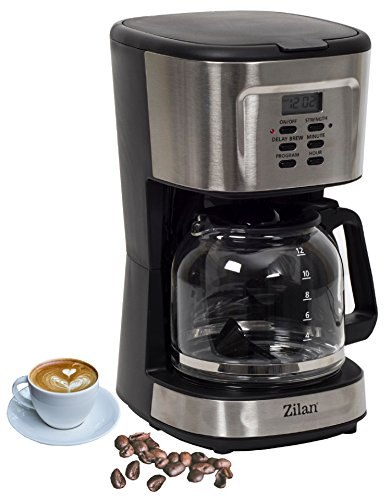 Kaffeemaschine | Filterkaffeemaschine | Kaffeefiltermaschine | Timer | 12 Tassen | Edelstahldesign |...