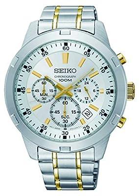Seiko Reloj Cronógrafo para Hombre de Cuarzo con Correa en Acero Inoxidable SKS607P1