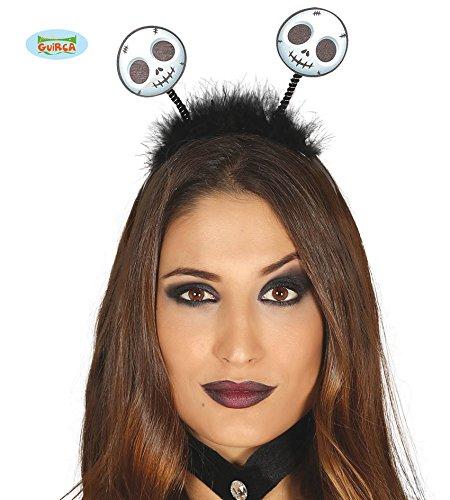 Schwarzes Geister Diadem für Damen Zum Halloween Kostüm Deko Fasching Party