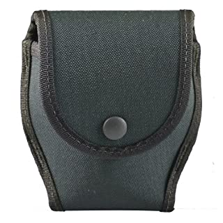 Uncle Mike's Law Enforcement Duty Gear Kodra Nylon Single Cuff Case with Flap for ASP/Peerless Hinged handcuffs