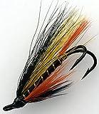 Lachs Fliegen MONROE Killer DOUBLES Größen 4-10Pack von acht UK Qualität gebunden Fliegen Pack # 163