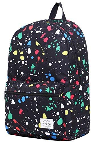 HotStyle TrendyMax Galaxy Sac à dos Scolaire - Peut contenir un ordinateur portable jusqu'à 15 pouces - PeinturesColorées