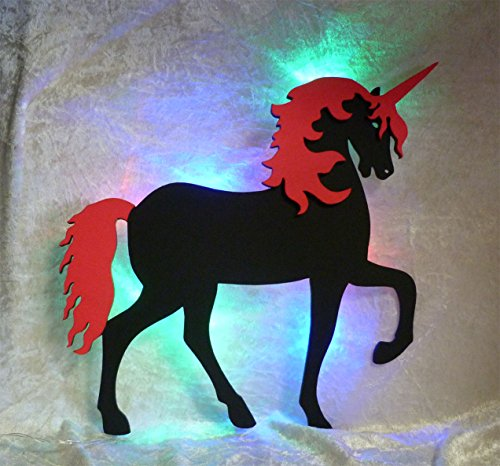 """Schlummerlicht24 Nachtlicht """"Unicorn"""", ideales Geschenk für Einhorn-Fans, als Deko-Lampe zum Zimmer verschönern, handgemacht"""