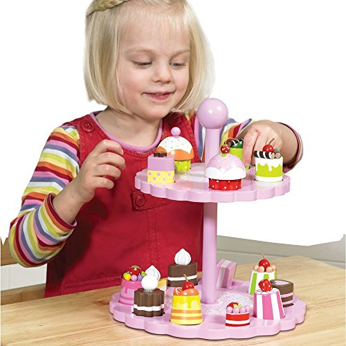 Tidlo T0138 Wooden High Tea Shape Matching Set