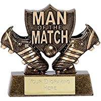 Man Of the Match3 Shield Football Trophy Award
