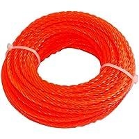 Aerzetix - Profilo quadrato filo contorto rosso di nylon 2.4 mm 15m per tagliaerba taglierina trimmer decespugliatore - Utensili elettrici da giardino - Confronta prezzi