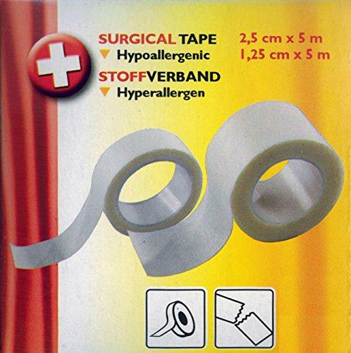 Preisvergleich Produktbild 2x Chirurgisches Klebeband 2, 5-1, 25cm x 5m hyperallergen Leukoplast Fixierpflaster Pflaster Verband 79