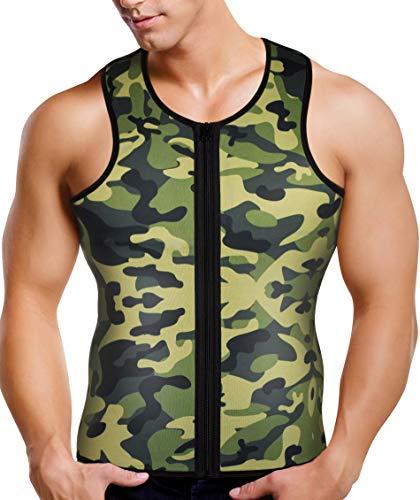 cb28a0c76c Men Waist Trainer Vest for Weight Loss Hot Neoprene Corset Body Shaper  Zipper Sauna Tank Top
