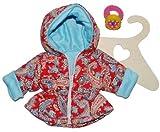 Puppenkleidung Größe 35 - 45 Jacke Anorak Paisley Muster rot hellblau Winter Winterjacke rosa Mantel