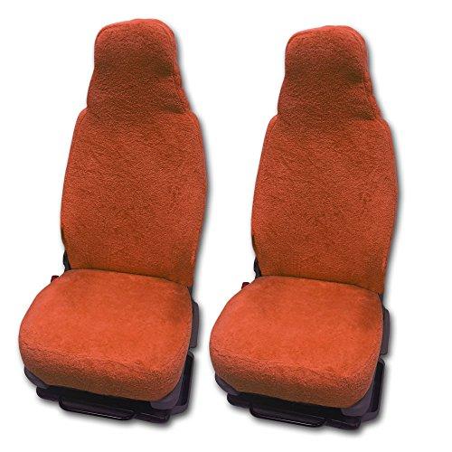 RAU Universal Sitzbezuge Schonbezüge aus 100{407bf60feaa08362fbff3fb5861ddc2d80dbe99132bf7877a9b62ff5ff6af293} Frottee Farbe: Terracotta für Pilotsitze und Wohnmobile