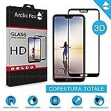 Arctic Fox 2X gehärtetes Glas 3D Schutzfolie Kurve Full Cover Vollschutzfolie Glas Transparent HD Anti Scratch für Huawei P20 Pro