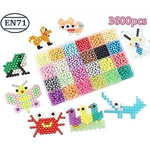 vytung Perle da acqua 3600 perline 24 colori (6 Jewel) Kit per creazioni con perline colorate Aquabeads Compatible