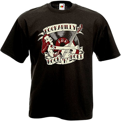 LIVE FAST SHOP T-Shirt Rockabilly and Rock'n'Roll Pin Up (2XL)