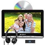 Pumpkin 12 Pouce Lecteur DVD Voiture pour Enfant Ecran d'appui tête Inhalation Design Soutient Région Libre USB SD avec Ecouteur et Cable AUX Equipé Support de Fixation