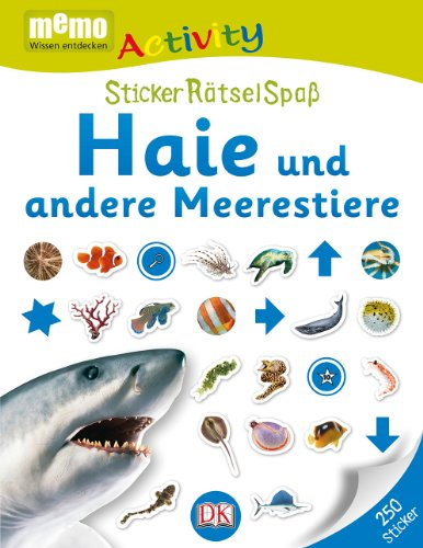 memo Activity. Haie und andere Meerestiere: StickerRätselSpaß