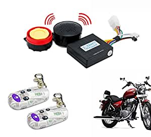 Bike Voice Assist Central Locking Alarm System Transparent Remote-Royal Enfield Thunderbird 350 Type 1