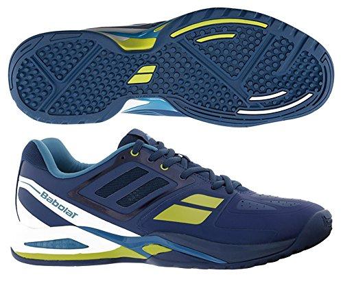 BABOLAT Chaussure de tennis Propulse Team BPM Omni Clay pour Homme, Bleu, 42.5