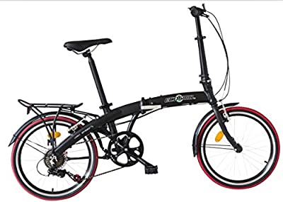 "Ecosmo 20"" Lightweight Alloy Folding City Bike Bicycle,12kg - 20AF09BL"