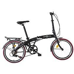Ecosmo 20AF09BL - Bicicleta plegable de aleación ligera, 12 kg, 20 pulgadas