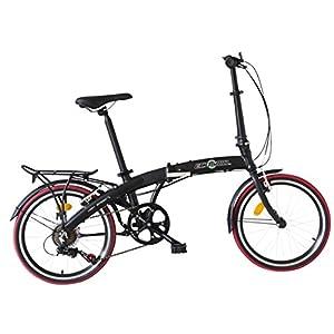 """ECOSMO, bicicletta pieghevole in lega leggera, con ruote da 20""""; peso: 12 kg; codice prodotto: 20AF09BL"""